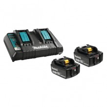 Makita – Y-00359 – 18V 2 x (5.0 Ah) Li-Ion Battery & Dual-Port Charger Kit