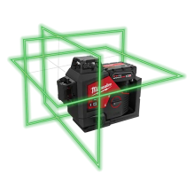 Milwaukee – 3632-21 – M12™ Green 360° 3-Plane Laser Kit