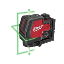 Milwaukee – 3522-21 – USB Rechargeable Green Cross Line & Plumb Points Laser