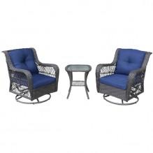Seasonal Trends – 59773 – Melrose Wicker Swivel Chair Set