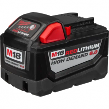 Milwaukee – 48-11-1890 – M18 18V Red Lithium-Ion High Demand 9.0 Ah Battery Pack, Red